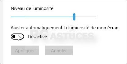 éclairage windows 8
