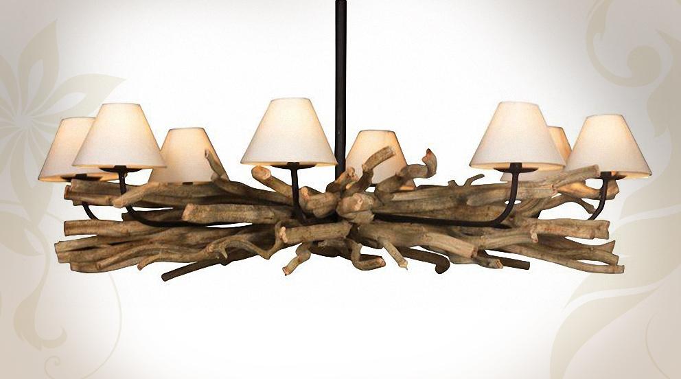 Lustre moderne bois
