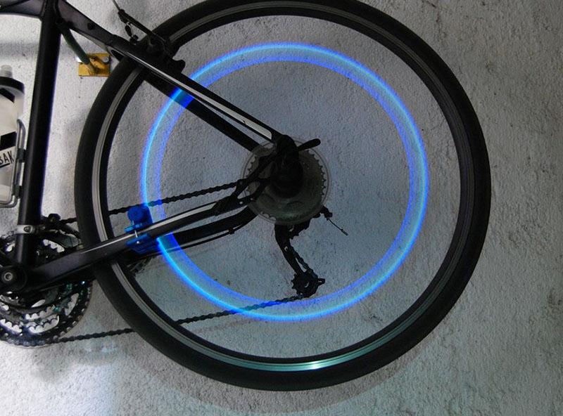 Eclairage roue velo