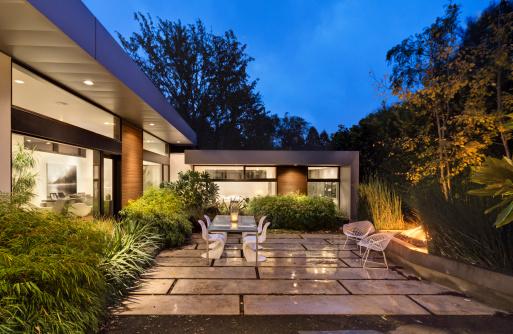 eclairage exterieur terrasse id e de luminaire et lampe. Black Bedroom Furniture Sets. Home Design Ideas