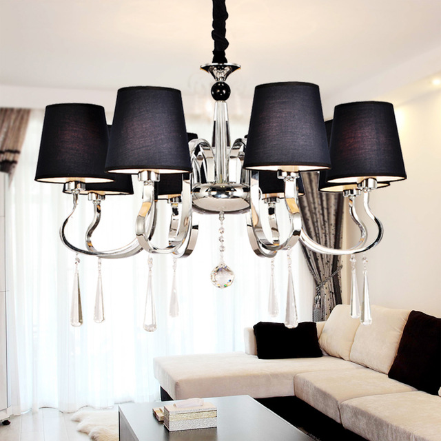 lustre moderne noir id e de luminaire et lampe maison. Black Bedroom Furniture Sets. Home Design Ideas