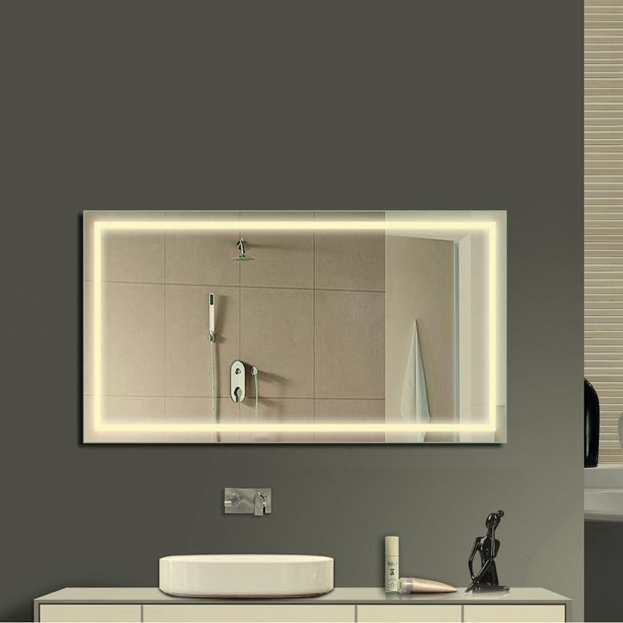 eclairage glace salle de bain Eclairage miroir salle de bain
