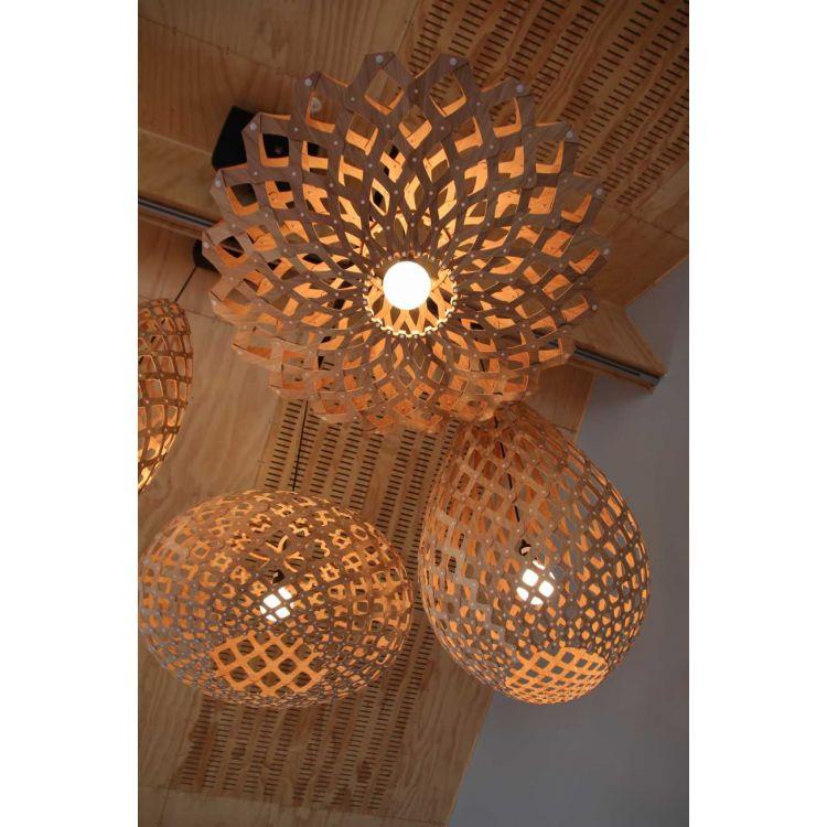 Lustre naturel id e de luminaire et lampe maison - Luminaire escalier maison ...