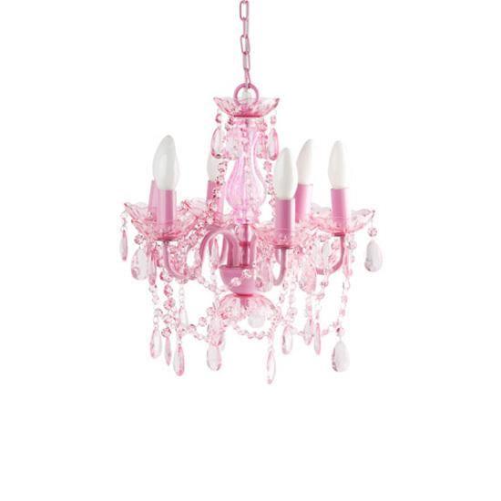 Lustre rose baroque