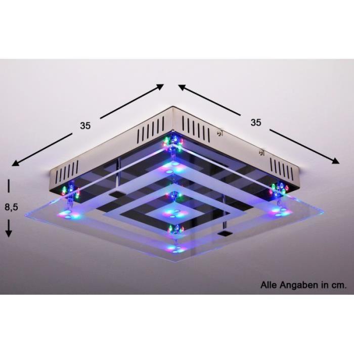 plafonnier led couleur telecommande id e de luminaire et lampe maison. Black Bedroom Furniture Sets. Home Design Ideas