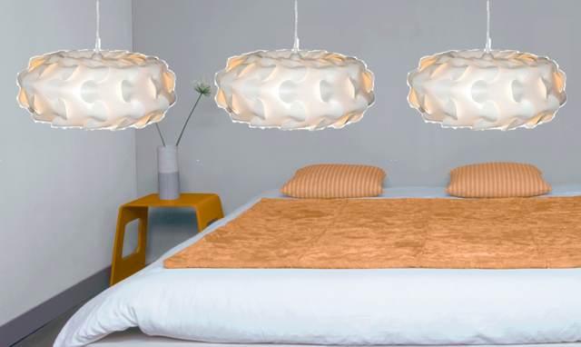 Suspension blanche chambre - Idée de luminaire et lampe maison