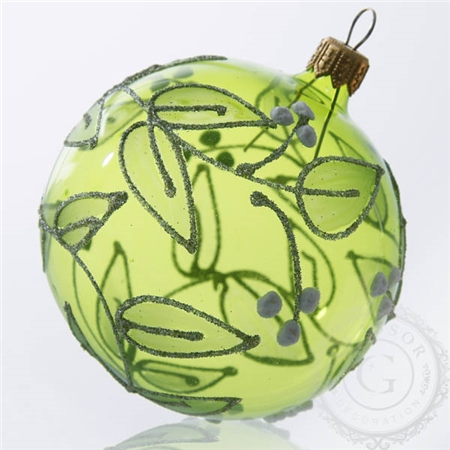 Dessin boule de noël à colorier