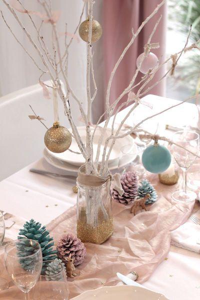 Decoration de noel pour table a faire