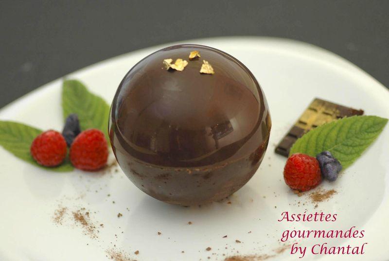Boule de chocolat pour noel