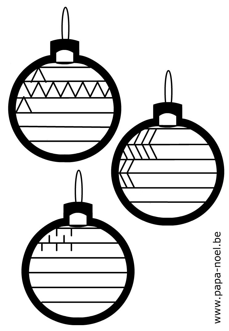 Graphisme boule de noël à décorer