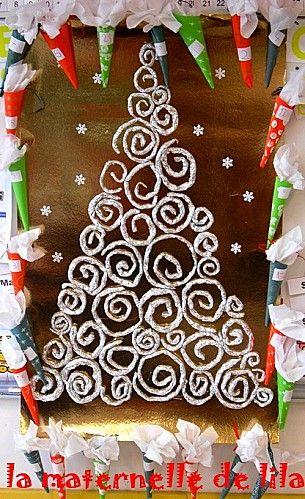 Decoration noel papier aluminium