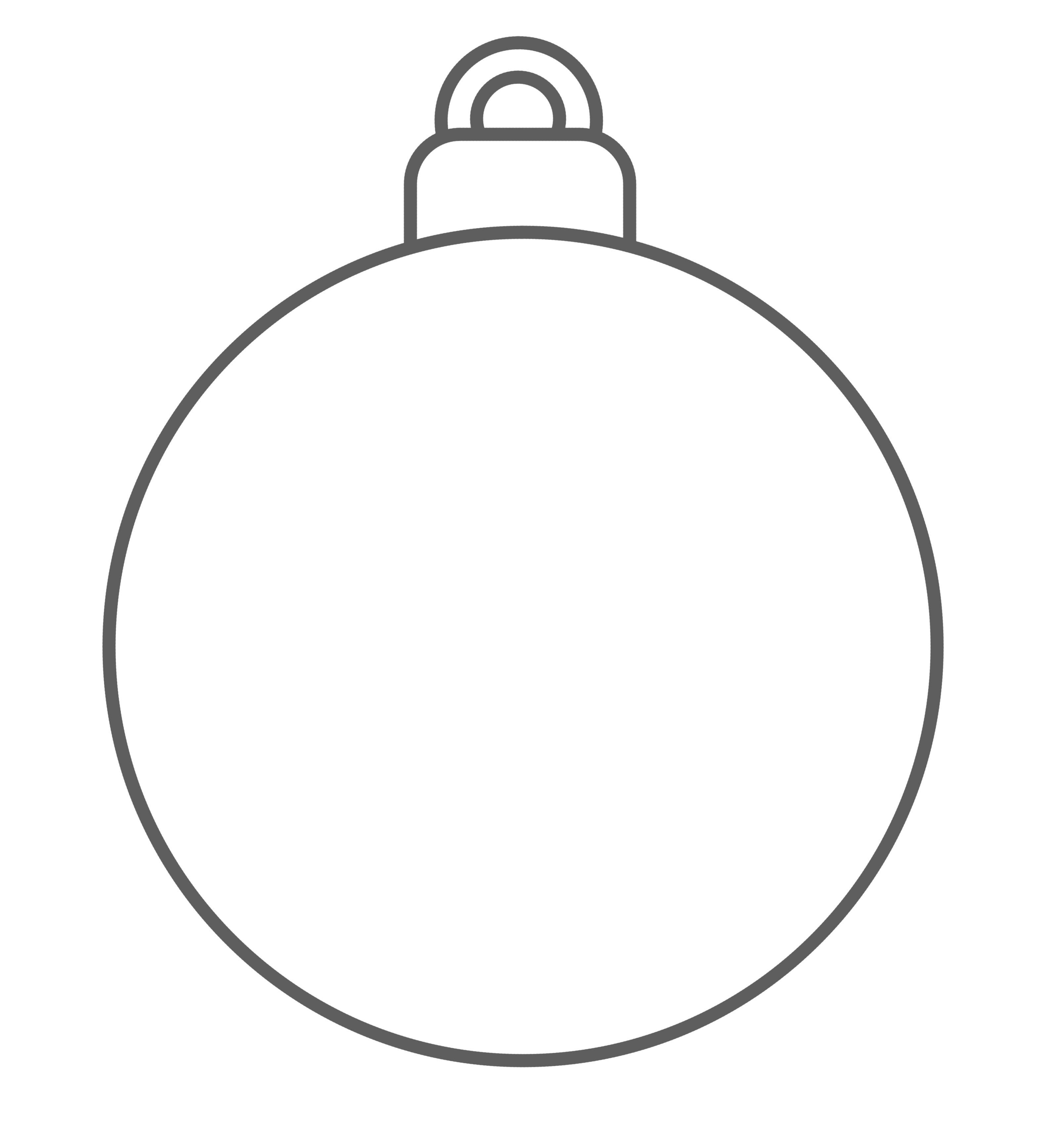 Gabarit De Boule De Noel