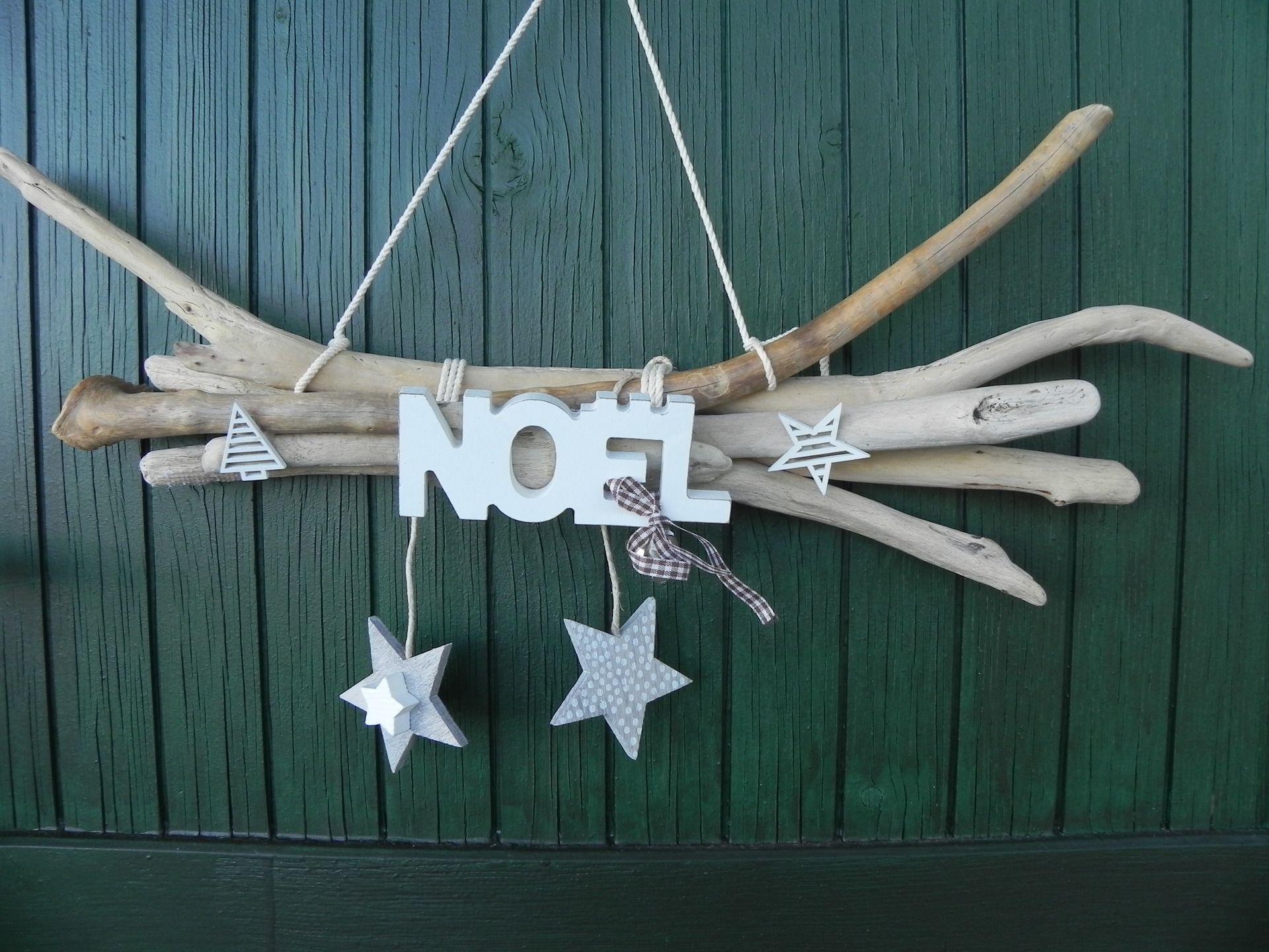 decoration de noel bois flotte - idée de luminaire et lampe maison