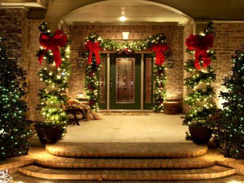 Decoration de noel pour porte intérieure