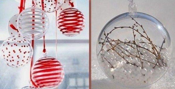 Boule de noel en verre a décorer