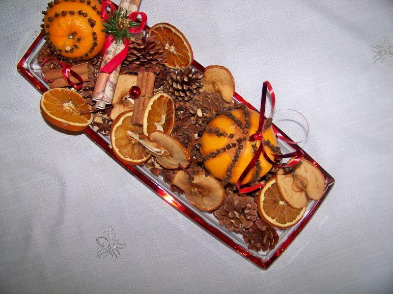 Décoration de noel avec une orange