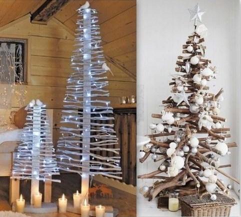 decoration de noel naturel bois id e de luminaire et lampe maison. Black Bedroom Furniture Sets. Home Design Ideas
