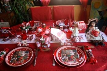Decoration table noel babou