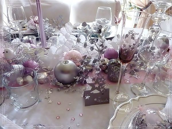 Idee deco table noel rose