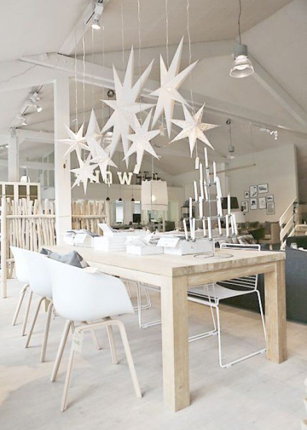 Deco de table noel en blanc