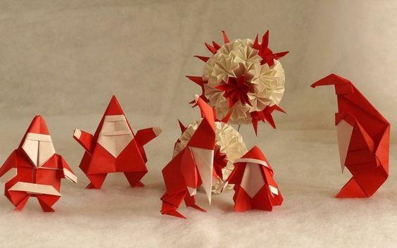 Décoration de noel origami - Idée de luminaire et lampe maison