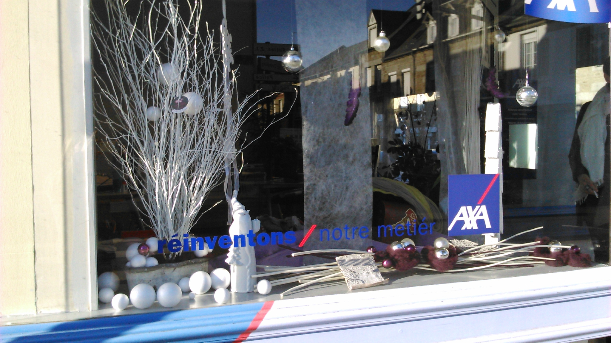 Decoration noel pour vitrine magasin