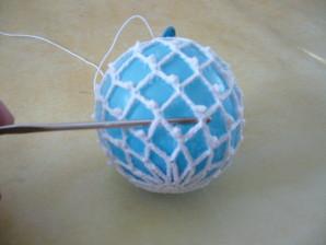 Boule de noel au crochet