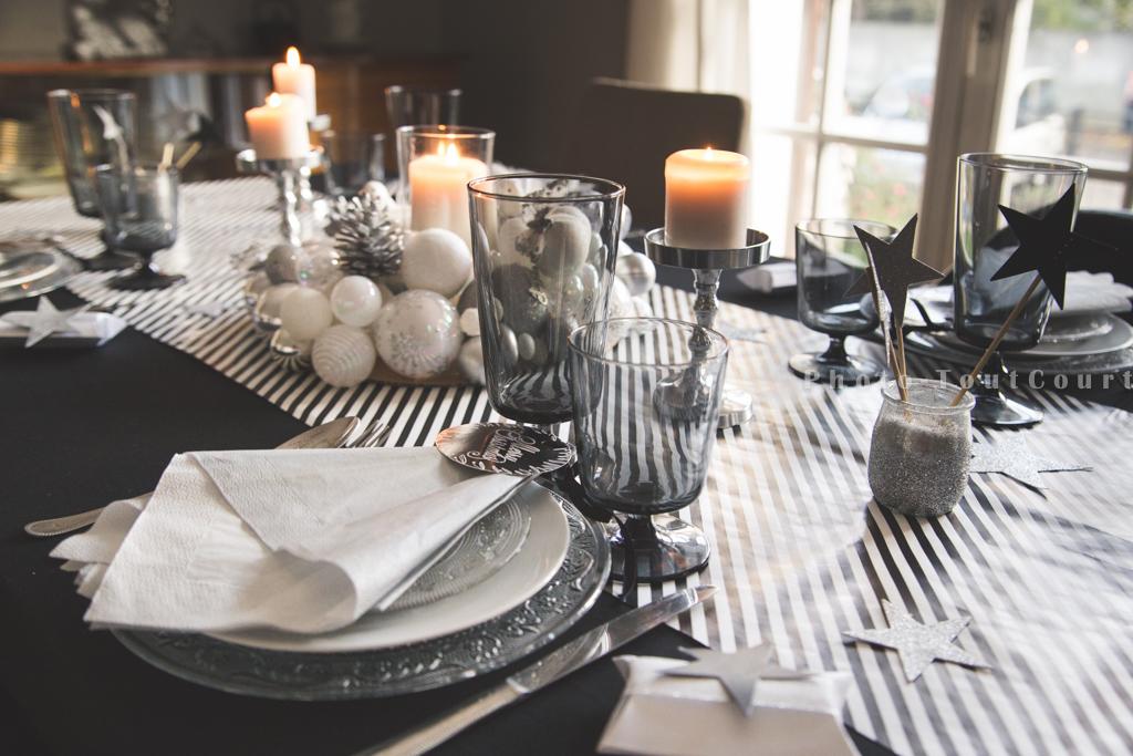 Decoration de noel blanc et gris