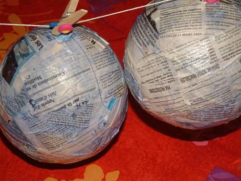 Fabrication boule de noel ballon