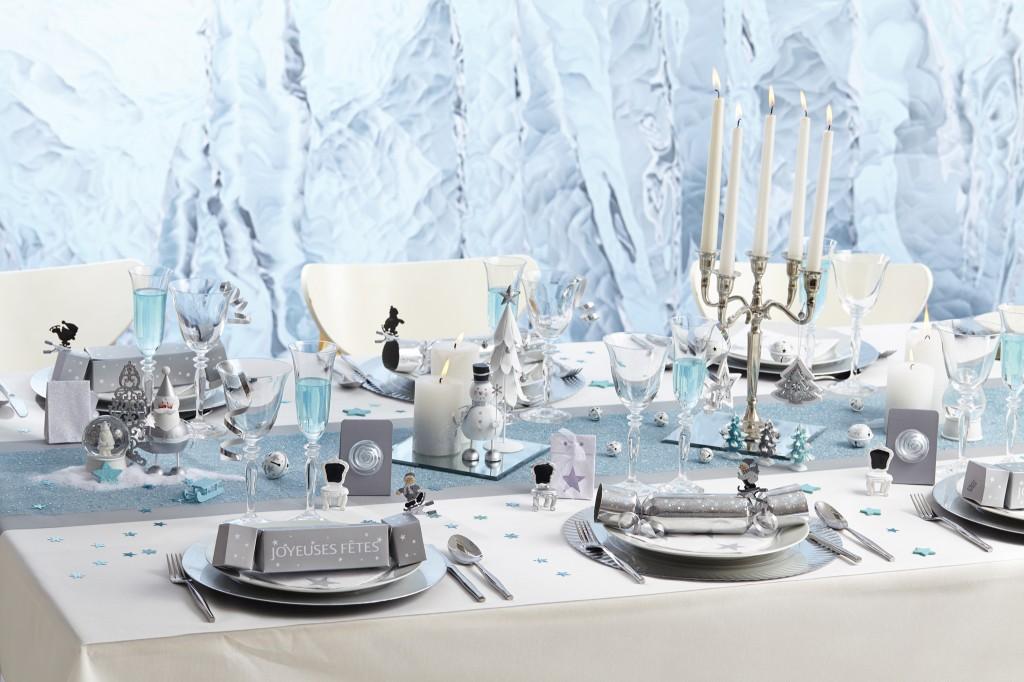 Deco noel bleu glacier