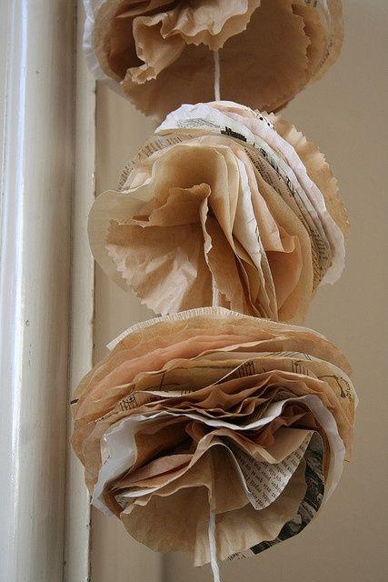 Decoration de noel avec du papier journal