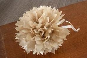 Boule de noel fleur en papier