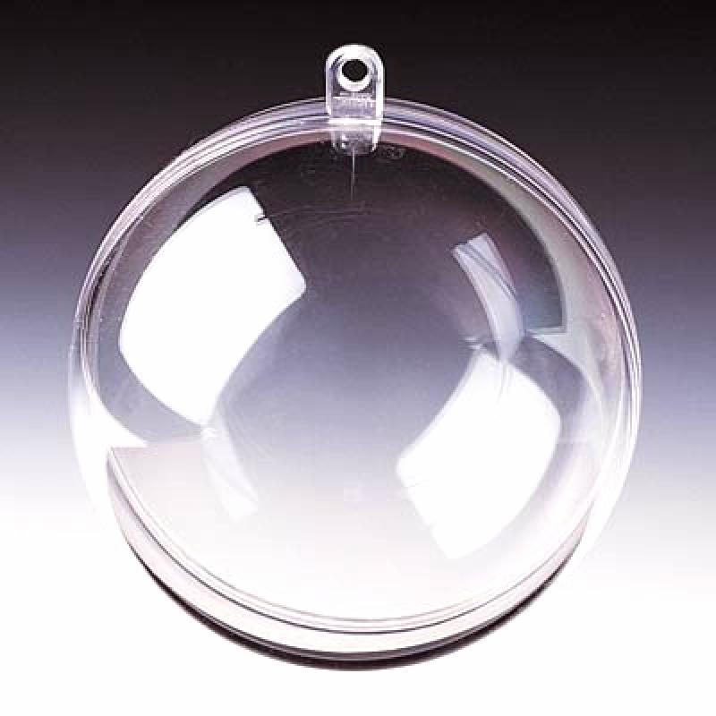Boule de noel transparente ouvrable