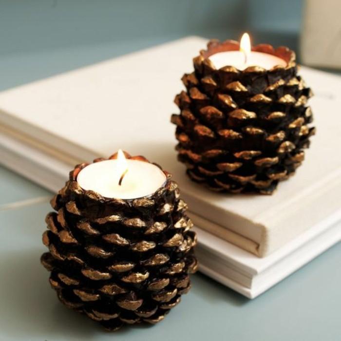 Idee deco noel avec pomme de pin