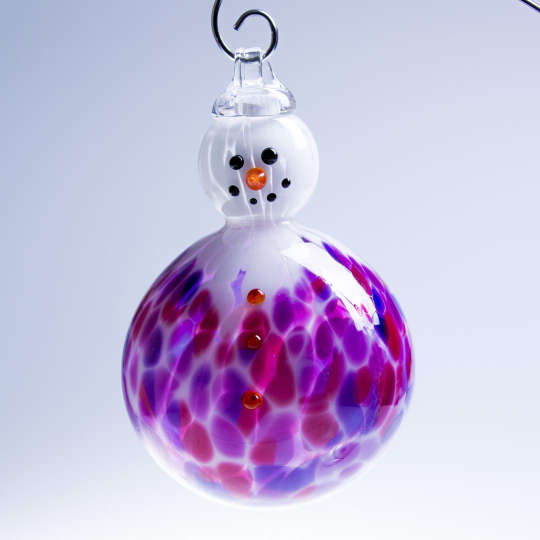 Boule de noel en forme de bonhomme de neige