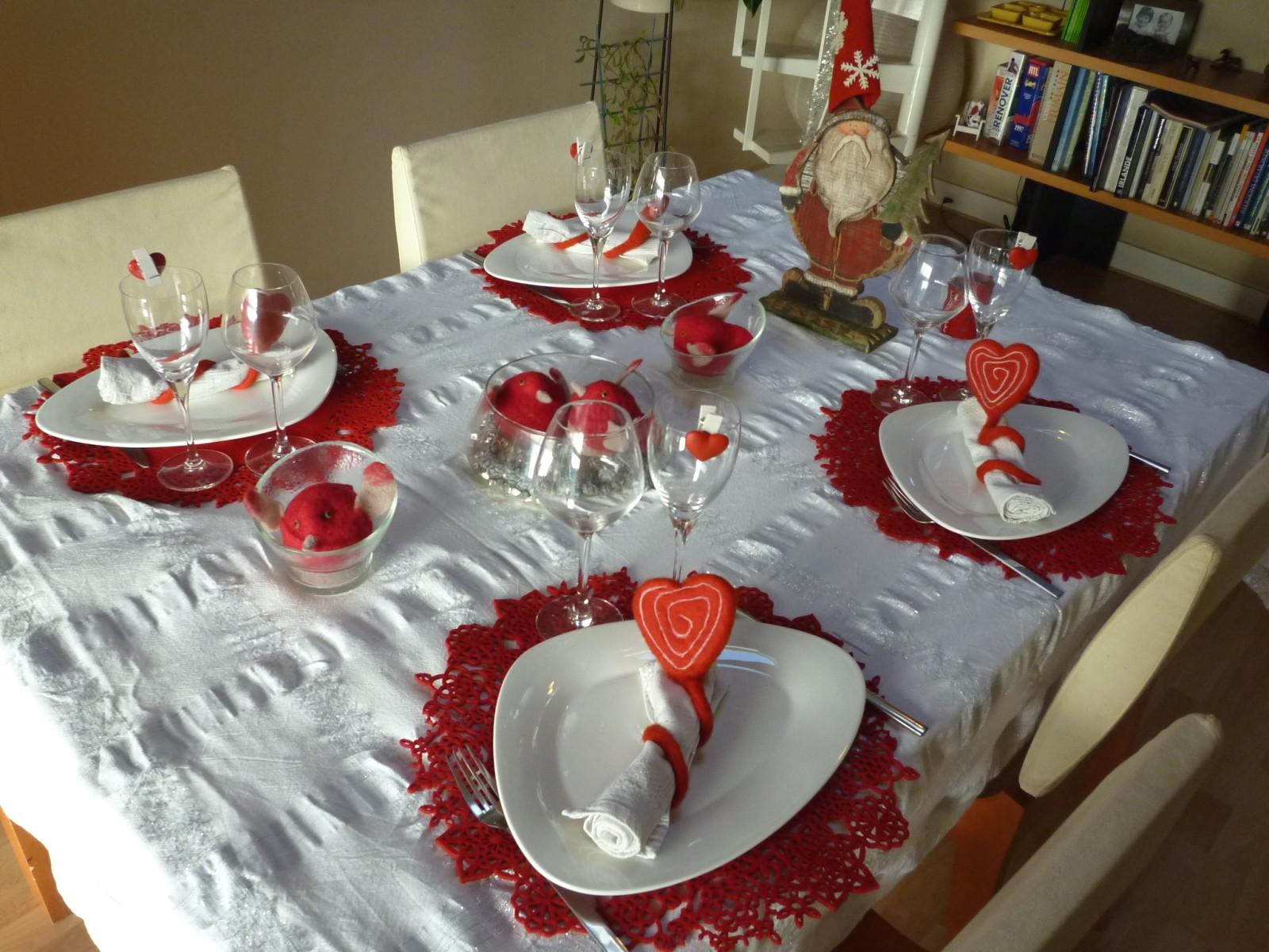 Decoration de noel pour table