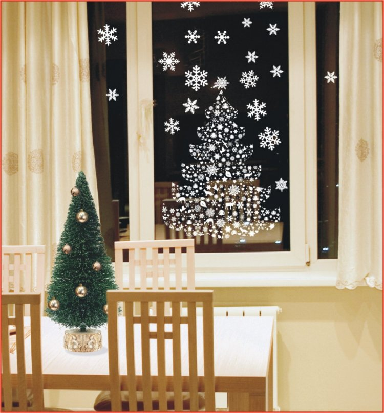 Decoration Noel Fenetre Papier Idee De Luminaire Et Lampe Maison