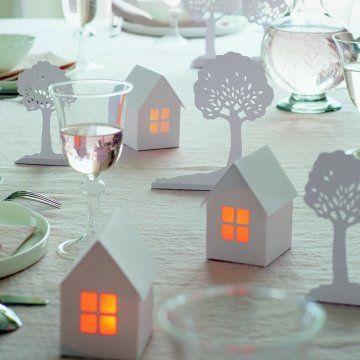 Deco noel papier maison