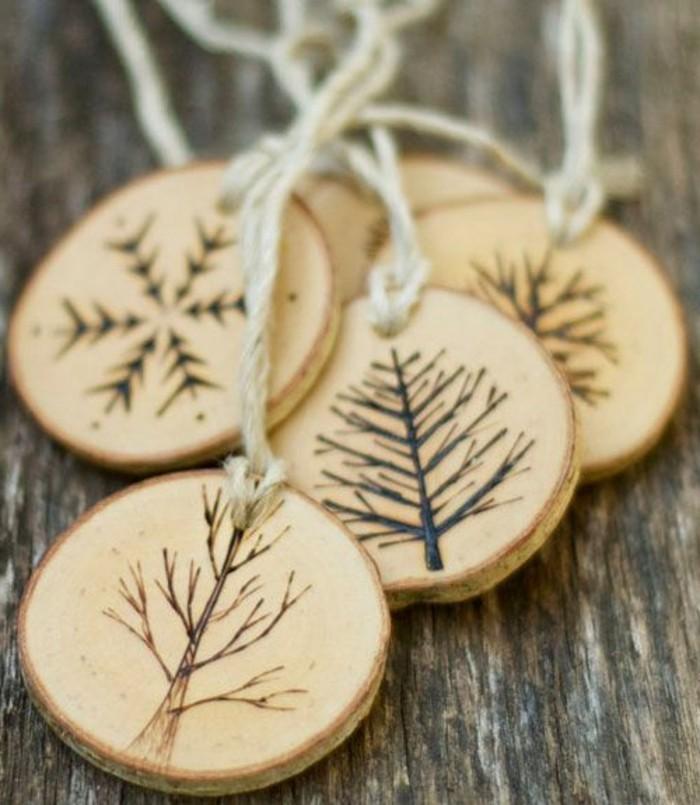 Decoration noel bois faire soi meme - Idée de luminaire et ...