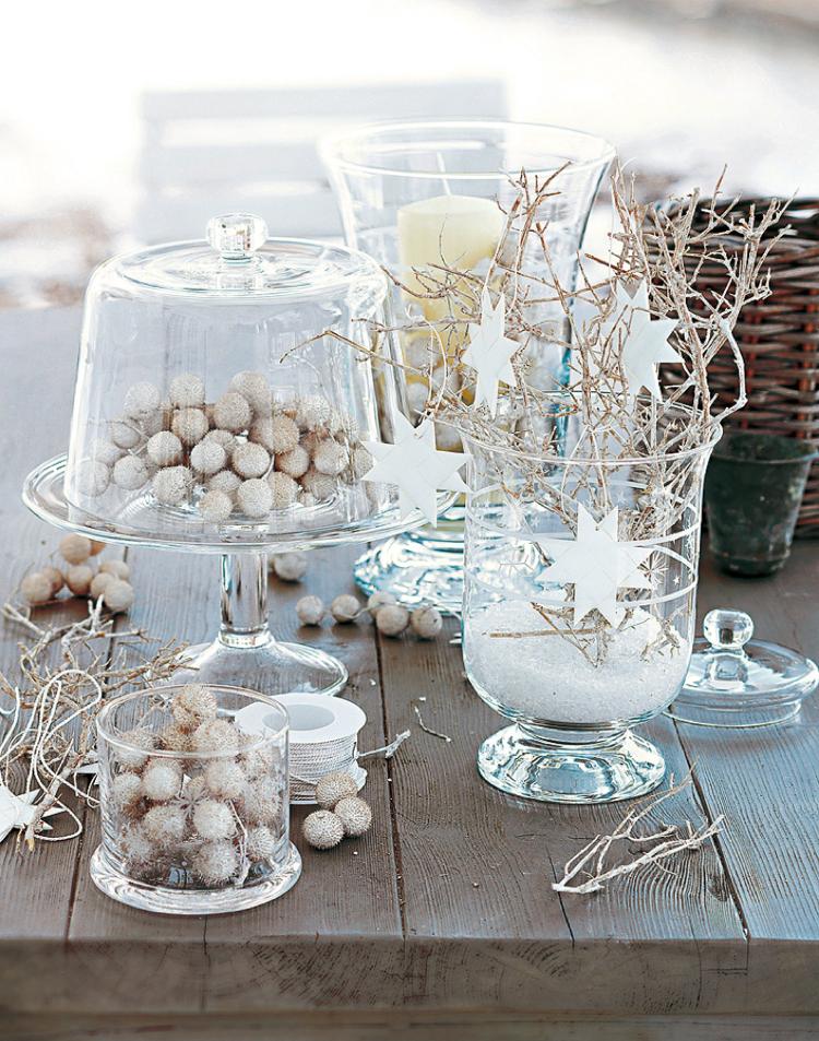 Decoration de table pour noel nature