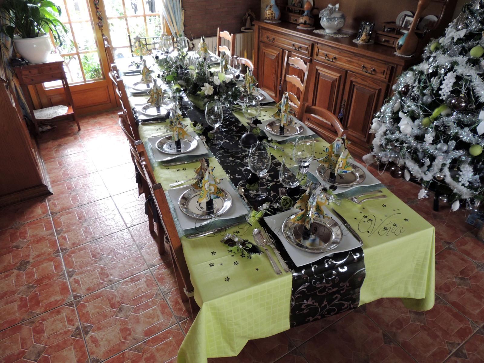 Deco table noel vert