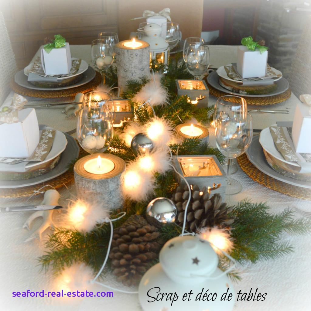 Decoration table noel zen