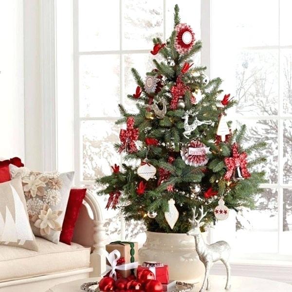 Decoration sapin de noel rouge et or – Noël en France