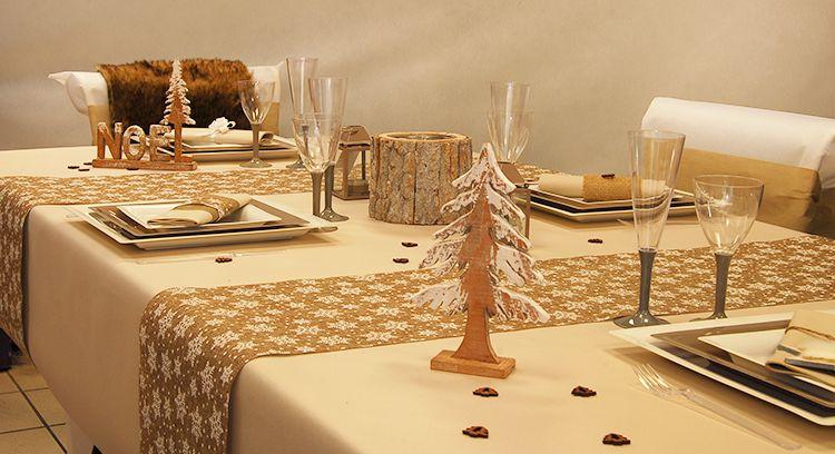 Idee décoration table de noel