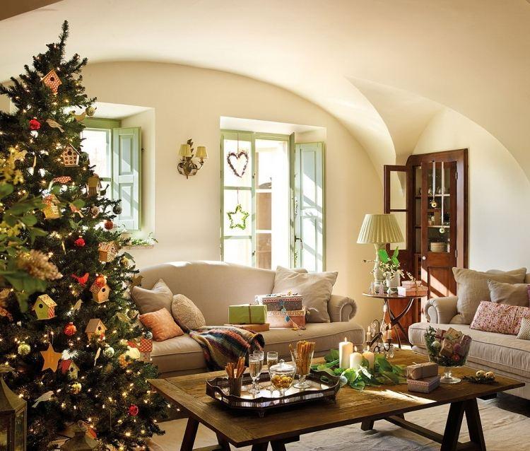 Decoration noel maison interieur