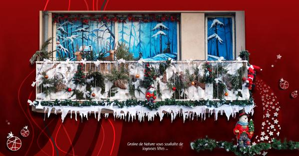Decoration de noel exterieur pour balcon