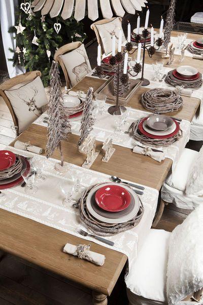 Décoration table de noel pinterest