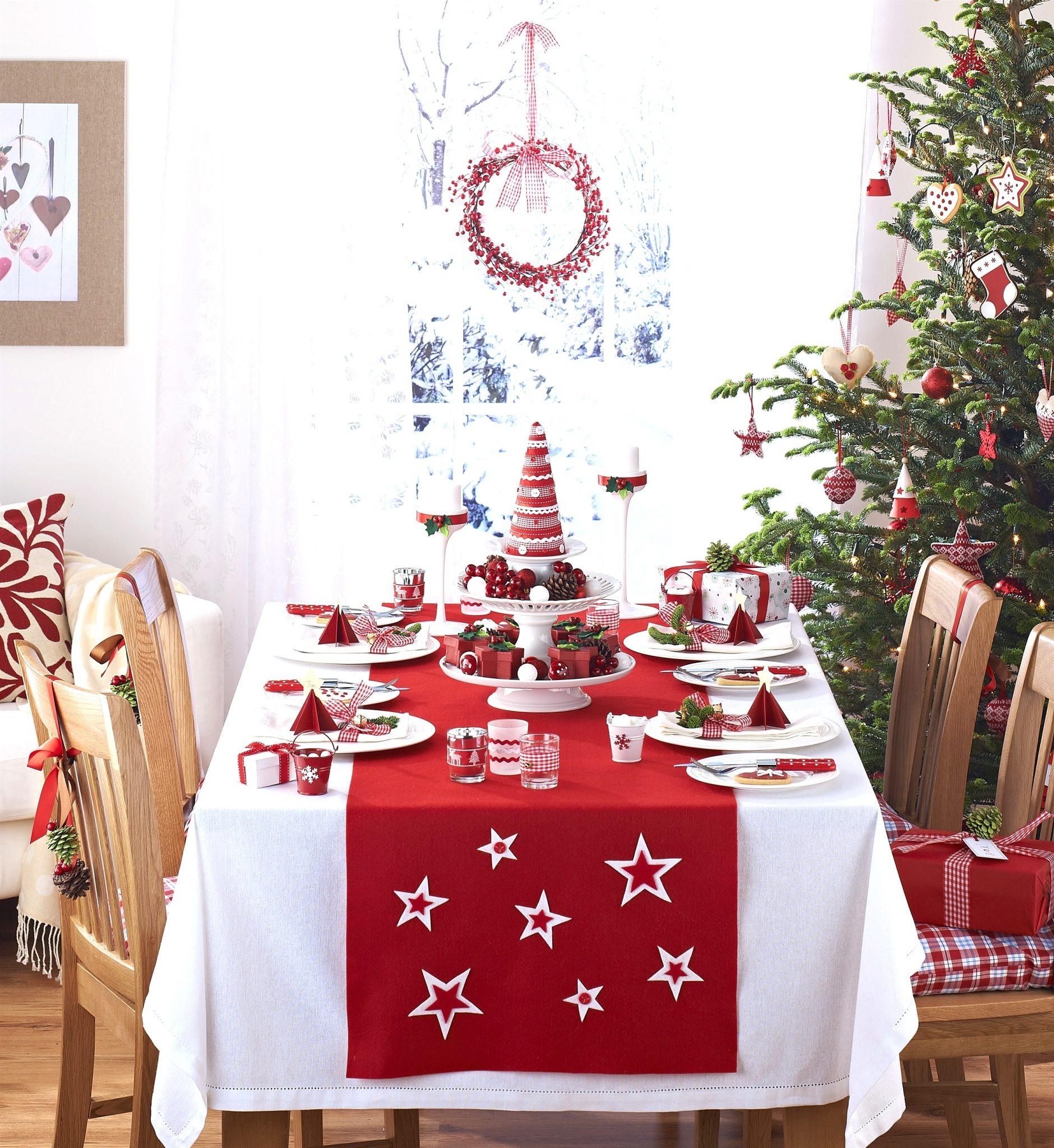 Deco de table noel rouge et noir