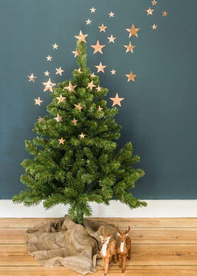 Decoration arbre de noel naturel