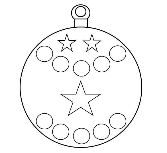 Dessin Boule De Noel A Decorer Idee De Luminaire Et Lampe Maison